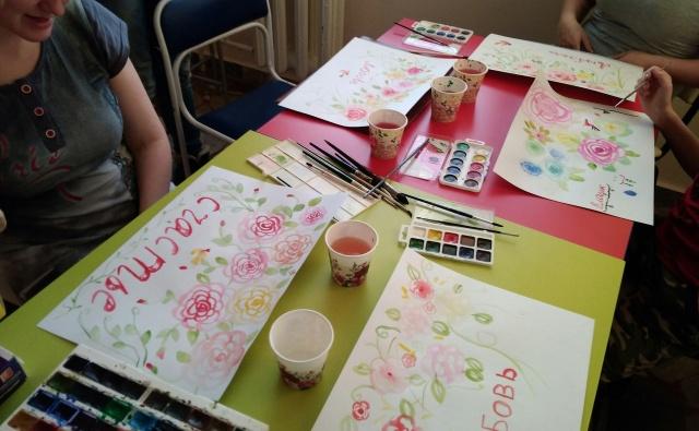 Рисуем и поем на мастер-классах в паллиативном отделении