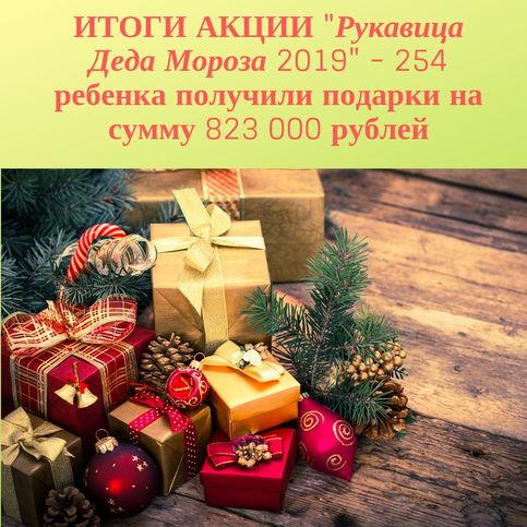 """Подвели итоги акции """"Рукавица Деда Мороза -2019"""""""